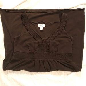 ⭐️EUC - Ann Taylor Loft - Brown Dress